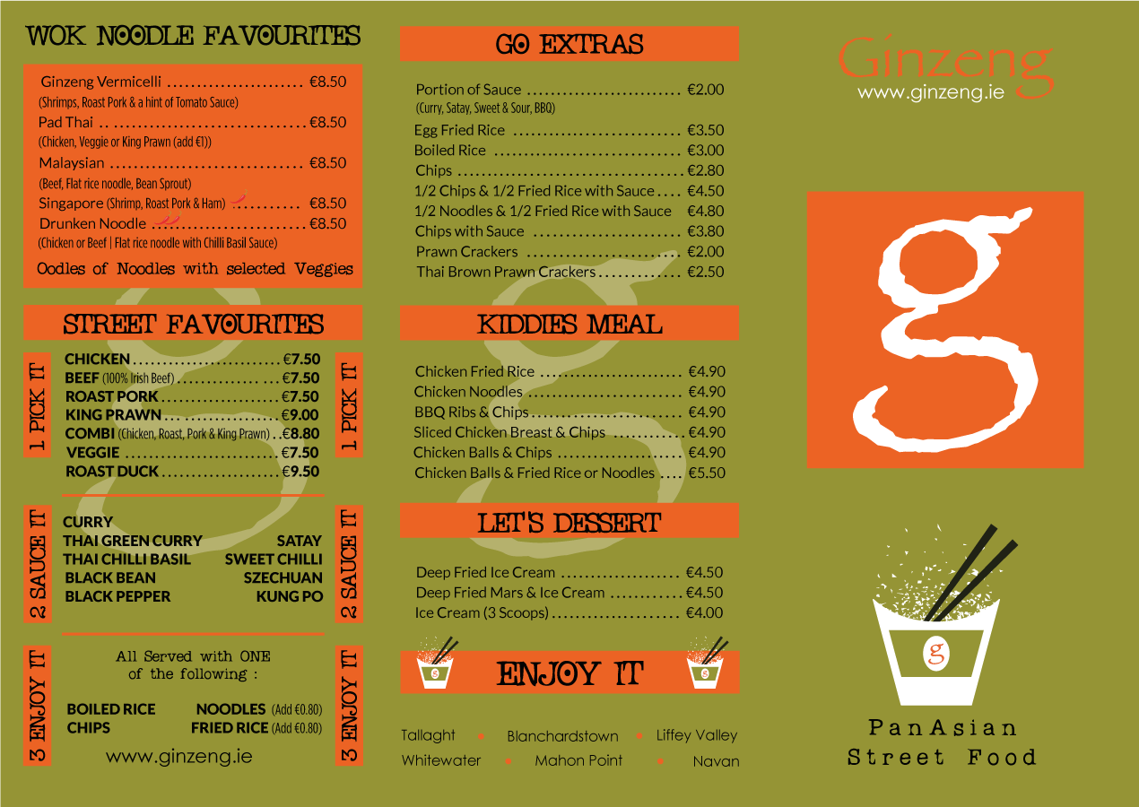 GINZENG-Asian-Fusion-Restaurants-Dublin---Menu-Front