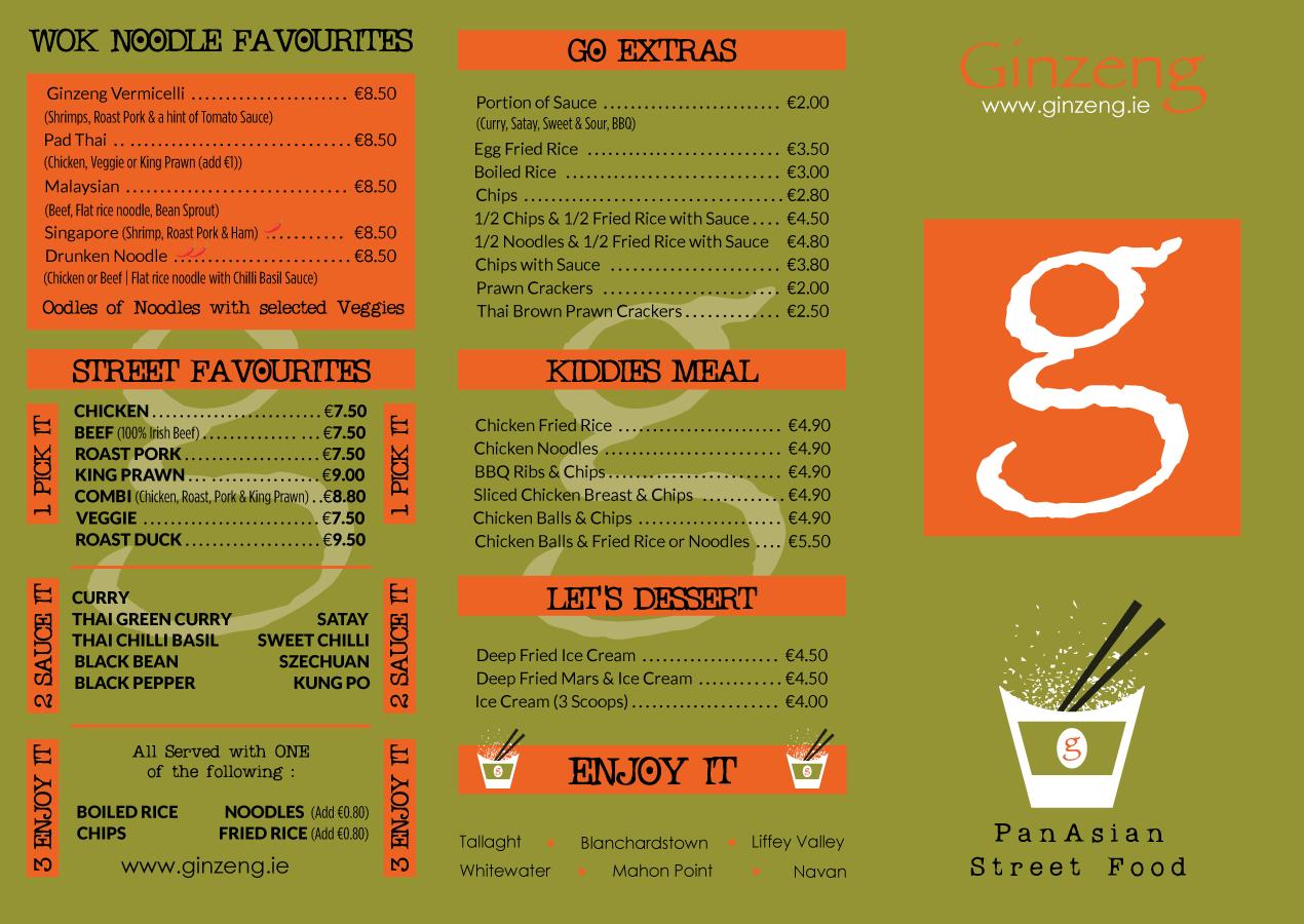 GINZENG-Asian-Fusion-Restaurants-Dublin---Menu-Front